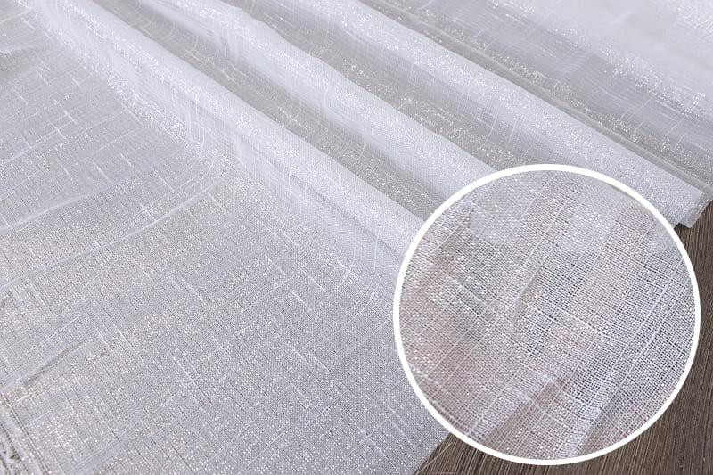Batyst 280 cm posrebrzana tkanina  na firany