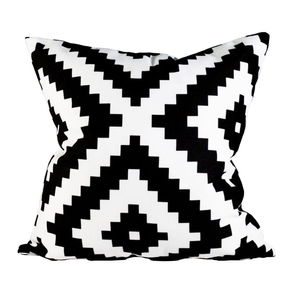 Poszewka piksel czarno-biała 40x40