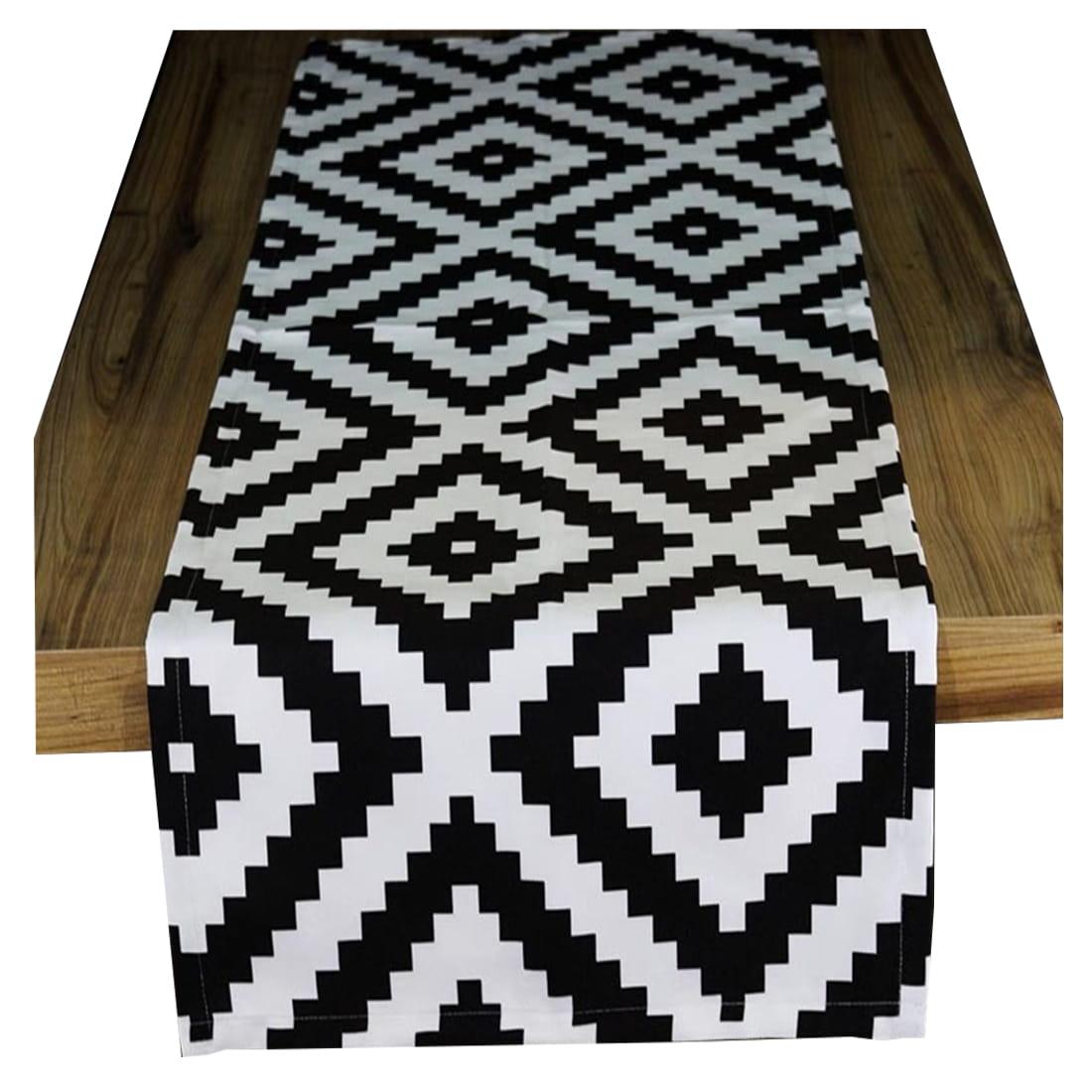Bieżnik piksel czarno-biały 40x140